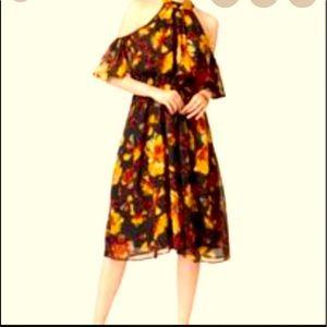 ECI New York Cold Shoulder Floral Dress Size 6